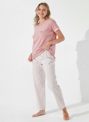 Penti Roze Rose Scent Pantolon Takımı Pembe